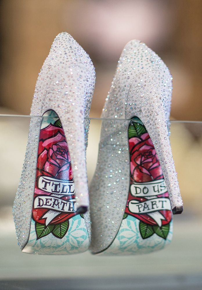 the perfect sparkly silver wedding shoes – till death do us part