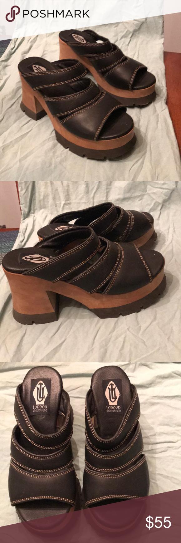 vintage London Underground sandals Worn once vintage super cute London Undergrou…