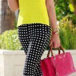 yellow blouse, black trousers RORESS closet ideas #women fashion outfit #clothin...